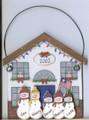 Snowman House with Flag 5