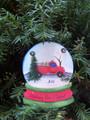 Fireman Snowglobe Personaized Christmas Ornament
