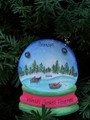 Fishing Snowglobe Personaized Christmas Ornament