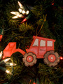 Backhoe Personalized Christmas Ornament