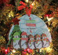 Penguin Ornament Family of 5