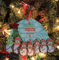 Penguin Ornament Family of 7