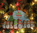 Penguin Ornament Family of 8
