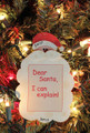 Dear Santa, I Can Explain Personalized Christmas Ornament
