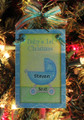 Baby's First Christmas Blue Personalized Ornament