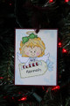 Blonde Girl Angel Christmas Ornament with Tag
