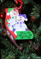 Sled Ornament family of 2