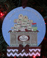 Gingerbread Family of 7 Making Cookies Personalized Christmas Ornament