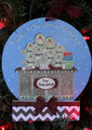 Gingerbread Family of 8 Making Cookies Personalized Christmas Ornament