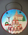 Church with Snowmen Family of 7