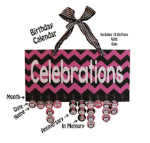 Chevron Celebrations Birthday Calendar