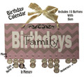 Pink and Tan Family Birthdays Calendar