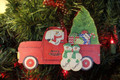 Truck Taking Home the Tree Single Parent or Grandparent with 2 children