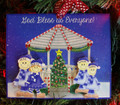 Gazebo Family of 4 Christmas Ornament