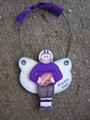 Football Male Personalized Angel Christmas Ornament