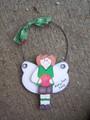 Basketball Female Angel Personalized Ornament