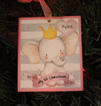 My First Christmas  Personalized Elephant Girl Ornament