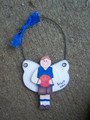 Basketball Male Angel Personalized Ornament