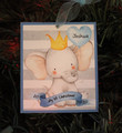 My First Christmas  Personalized Elephant Boy Ornament