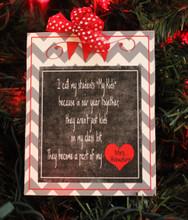 Teacher Heart Ornament