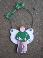 Golf Male Angel Personalized Ornament