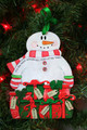 It's the Most Wonderful Time of the Year Personalized Snowman Ornament 6