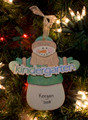 Kindergarten Snowman Personalized Ornament