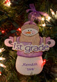 First Grade Snowman Personalized Ornament