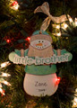 Little Brother Snowman Personalized Ornament