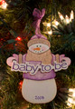Baby to Be Snowman Personalized Ornament