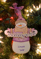 Mommy to Be Snowman Personalized Ornament