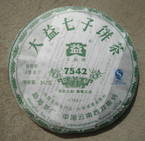 "2007 Menghai Tea Factory ""7542 Raw"" Pu-erh 357 grams"