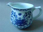 Chahai (Tea Pitcher) - Porcelain, Chrysanthemum Flower Design - 150cc cap.