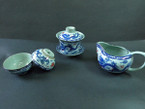 Traditional Dragon & Phoenix Tea Set - 1 Gaiwan, 1 Pitcher, 2 Cups