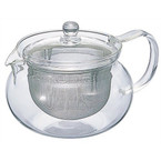 Generously sized infuser basket is great for fine loose leaf teas.