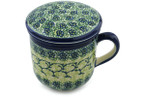 Tea Infusion Mug, 12 ounce - Polish Pottery - Pattern P2106A (DU41)