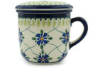 Tea Infusion Mug, 12 ounce - Polish Pottery -Pattern P3793A (DU48)