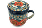 Tea Infusion Mug, 12 ounce - Polish Pottery -Pattern P2454A (124ART)