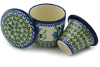 Tea Infusion Mug, 12 ounce - Polish Pottery -Pattern P4798A (160ART)
