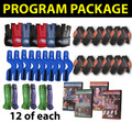 """PROGRAM PACKAGE"" 12 J-Gloves, 12 V-Bands, 12 O-Bands, 12 J-Straps, 4 DVDs"