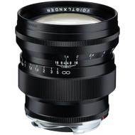 """""""Voigtlander Nokton 75mm F/1.5 Aspherical Black Lens for Leica M Mount (New)"""
