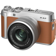 Fujifilm X-A7 Mirrorless Digital Camera with 15-45mm Lens - Camel (New)