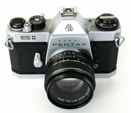 Pentax ES II Body with SMC 55mm F/1.8 M42 Lens (Used)