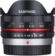 Samyang 7.5mm F/3.5 Fisheye UMC II Lens for Micro 4/3 (New)