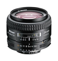 Nikon AF 24mm F2.8D Lens with Hood (Used)