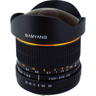 Samyang 8mm F3.5 Fisheye UMC II Nikon AE APS-C Lens (Now in Stock)