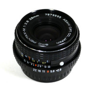 Pentax -M 28mm F/2.8 SMC Lens (Used)