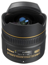 Nikon AF 10.5mm F2.8G DX Fisheye Lens (Used)