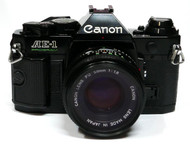 Canon AE-1 Program Film Camera with 50mm F1.8 Lens (Used)