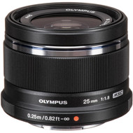 Olympus M. Zuiko Digital 25mm F1.8 Lens - Black (New)
